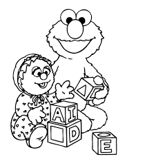Elmo Coloring Pages Sheets Pictures