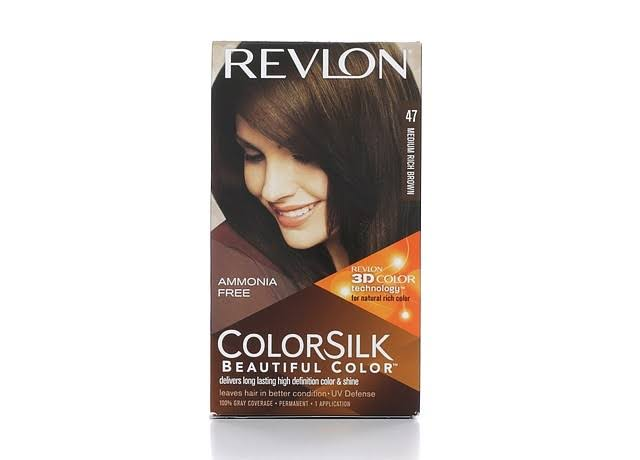 Revlon ColorSilk Beautiful Color Permanent Hair Color - 47 Medium Rich Brown