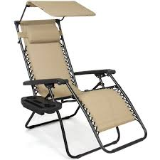 Timber Ridge Folding Lounge Chair by Folding Zero Gravity Recliner Lounge Chair With Canopy Shade