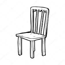 dessiner une chaise chaise vieux dessin animé image vectorielle lineartestpilot