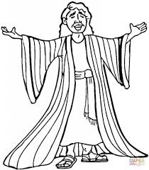 Joseph Many Colored Coat Coloring Page Free Printable Pages Throughout Of Colors