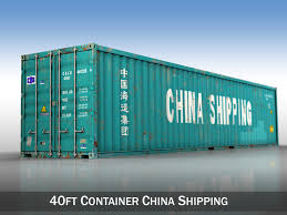 100 40ft Shipping Containers Container China 3D Model