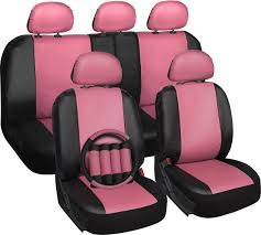 Amazon.com: OxGord 17pc Set Faux Leather Pink Black Auto Seat Covers ... Dodge Ram Pickup Seat Covers Unique 1500 Leather Truck Seat Covers Lvo Fh4 Black Eco Leather For Jeep Wrangler Truck Leatherlite Series Custom Fit Fia Inc Auto Upholstery Convertible Tops Mccoys New York Ny By Clazzio Man Tga Katzkin Vs 20pc Faux Gray Black Set Heavy Duty Rubber Diamond Front Cover Masque Luxury Supports Car Microfiber