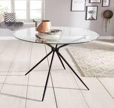 glastisch silvi rund ø 110 cm schwarzes metallgestell