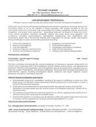 Legal Resume Objective Examples Writing For Law Enforcement