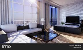 100 Zen Style Living Room Smart Tv Mockup Blank Image Photo Free Trial Bigstock