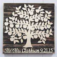 Personalized Wedding Guest Book Wooden Sign For 200