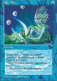 mtg merfolk deck legacy high tide merfolk fallen empires magic the gathering