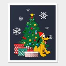 Plutos Christmas Tree Ornament by Pluto Around The Christmas Tree Pluto T Shirt Teepublic