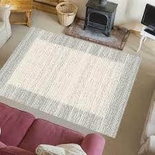 teppich klassisch wohnzimmer edle optik meliert mit
