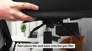 Tempur Pedic Office Chair Tp4000 by Pago Chair Assembly Instructions Youtube