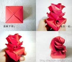 How To Fold Cute Origami Paper Craft Rose Box For Valentines Day Intended Make Crafts