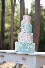 Romantic Blue Summer Wedding Cakes