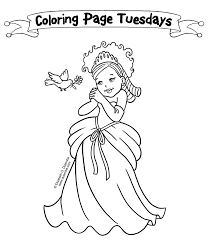 Good Little Princess Coloring Pages 56 For Your Books With