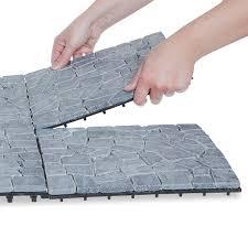 gray deck tiles box of 10 garden winds