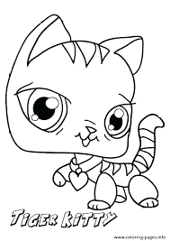 Christmas Kitten Coloring Pages Printable Kittens Cute Picture Hello Ki