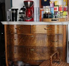 Vintage Tiger Oak Dresser by The Lovebirds The Weekend Country