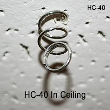 spiral hanging coil ceiling sign holder clip corp