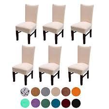 Velvet Spandex Stretch Dining Room Chair Cover Removable Slipcovers Set Of 6light