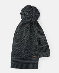 multi stitch wool scarf charcoal luxury scarves ted baker