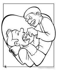 Dentist Exam Coloring Pages