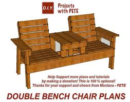 Plans For Yard Furniture by How To Build A Double Chair Bench With A Cooler Home Design