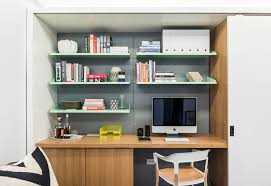 Make Your Home Office A Part Of Storage Wall For More Built In