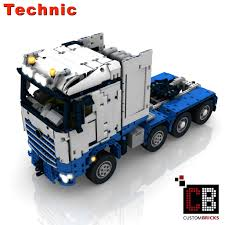 100 Rc Model Trucks CUSTOMBRICKSde LEGO Technic Model Arocs SLT RC Truck