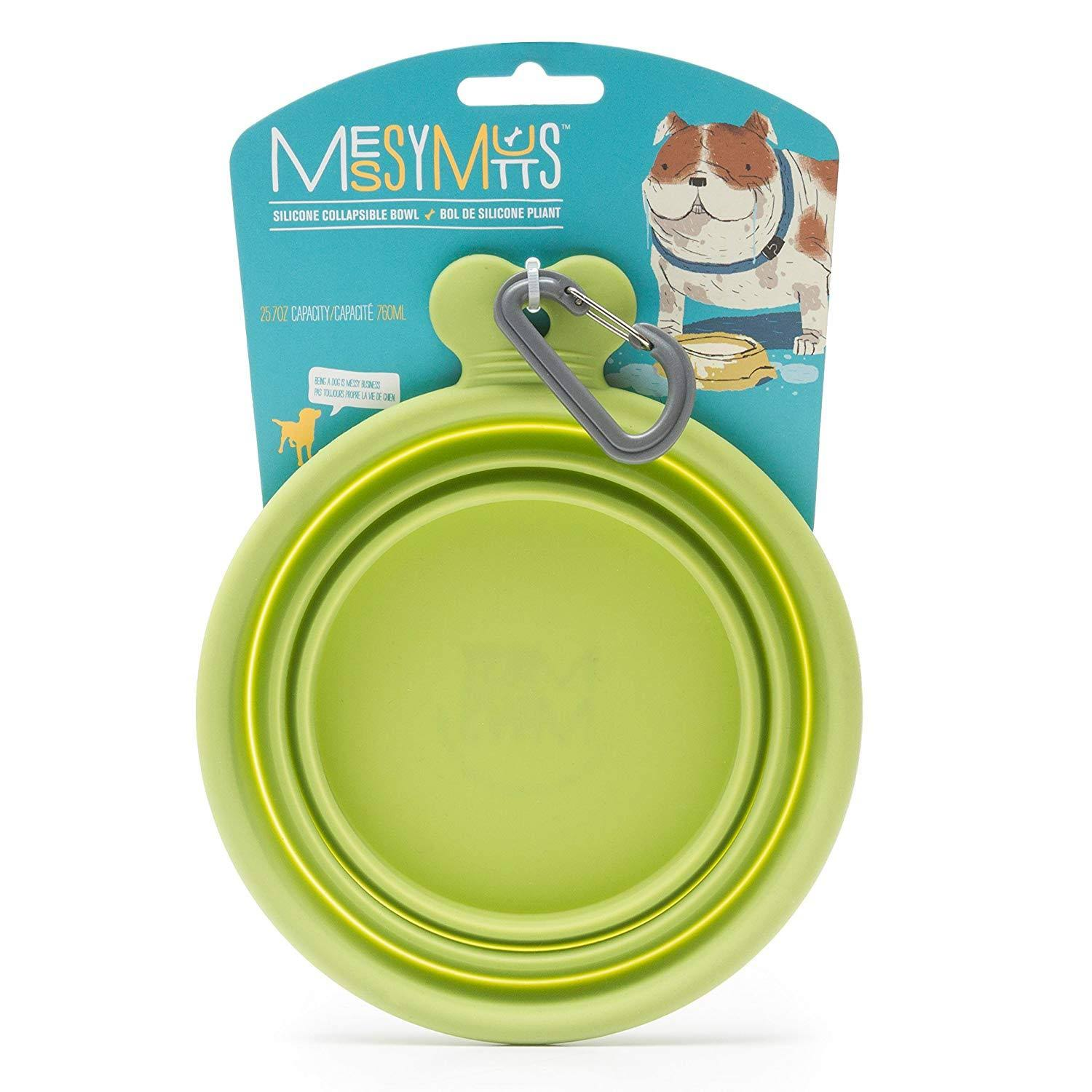 Messy Mutts Silicone Collapsible Dog Bowl - 25.7oz