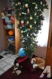 7 1 2 Feet Tall Upside Down Christmas Tree Pre Lit