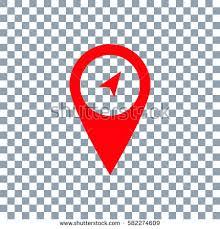 Marker Icon Location Icon Transparent Stock Vector