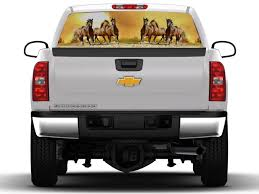 100 Rear Truck Window Decals Wild Horses Scene Graphic Nostalgia