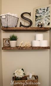 diy faux floating shelves shelves house and bath