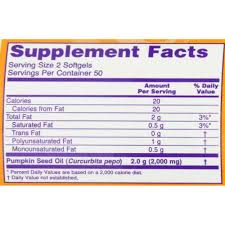 Pumpkin Seeds Prostate Cancer by Buy Now Foods Pumpkin Seed Oil 1000mg Softgels 100 Prostate