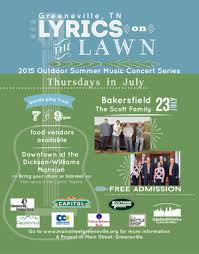 Myers Pumpkin Patch Greeneville by Lyrics On The Lawn July 23rd The Scott Family And Bakersfield