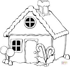 Click The Christmas Gingerbread House Coloring Pages To View Printable