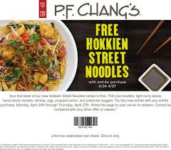 Pinned April 25th: #FREE Hokkien Noodles With Your Entree At ...