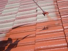 how to clean concrete barrel tile roof can you paint your shingles