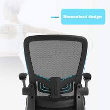 Ergonomic Office Chair Cheap Desk Chair Mesh Computer Chair With Lumbar  Support Flip Up Arms Swivel Rolling Adjustable Mid Back Computer Chair For  ...