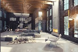 100 Modern Luxury Design Home Interior With Fireplace 3d Rendering