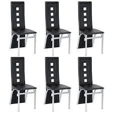 6er set esszimmerstühle stuhl hochlehner polsterstuhl sitzgruppe essgruppe esszimmerstuhl wartestuhl besucherstuhl schwarz