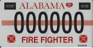 100 Fire Truck Plates Fighter Alabama Department Of Revenue
