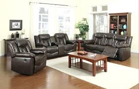 darrin leather reclining sofa with console black bright default