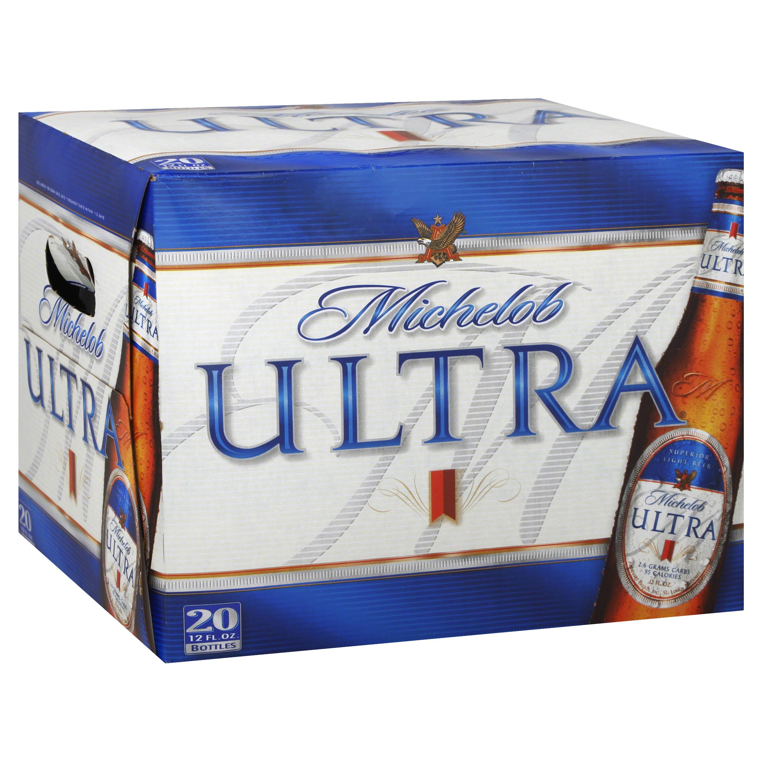 Michelob Ultra Beer - Superior Light, 20x12oz