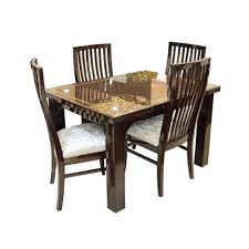 brown standard wooden dining table set rs 20000 set rafi