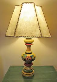 Rawhide Lamp Shades Ebay by Spanish Colonial Revival Monterey Style Table Lamp With Genuine