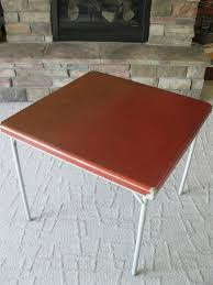 Vintage SAMSON Samsonite RED Card Table - Style No. 5708 ... Folding Tables And Chairs Full Size Of Chair Sofa John Lewis Partners Adler Butterfly Drop Leaf Ding Table And Four Lot 203 Samsonite Card Stool Metal High Bulk Fanback Steel Vinyl Pinterest China Direct Buy Cosco 5piece Set Black Walmartcom 516592899 Neutral Xl Seat Polypropylene Back Frame Fourlegged Base 1693 Childs All White