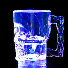 2017 hl2016 water induction colorful led flash cups led plastic