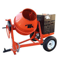 100 Cement Truck Rental TK Equipment 9 Cu Ft Steel Drum Towable Concrete Mixer With GX240