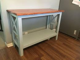 A Simple Rustic Style Console Table I Built This Using 1